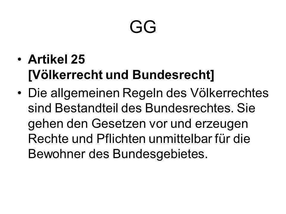 GG Artikel 25 [Völkerrecht und Bundesrecht]